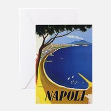 Vinatge Tourism Poster for Naples, Italy Greeting