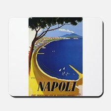 Vinatge Tourism Poster for Naples, Italy Mousepad