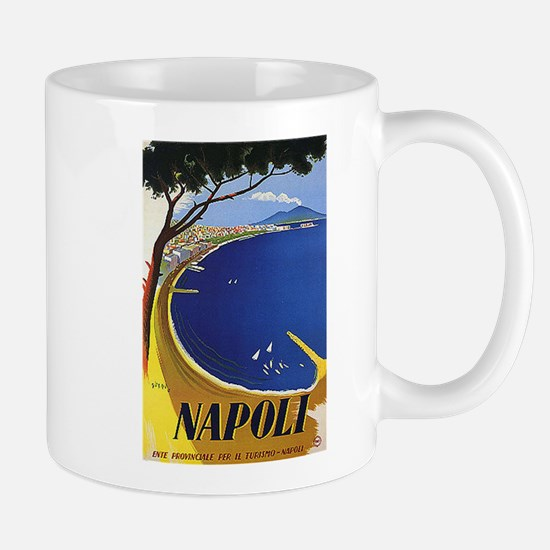 Vinatge Tourism Poster for Naples, Italy Mugs