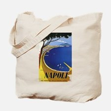Vinatge Tourism Poster for Naples, Italy Tote Bag