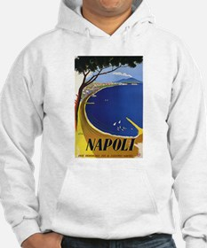 Vinatge Tourism Poster for Naples, Italy Hoodie