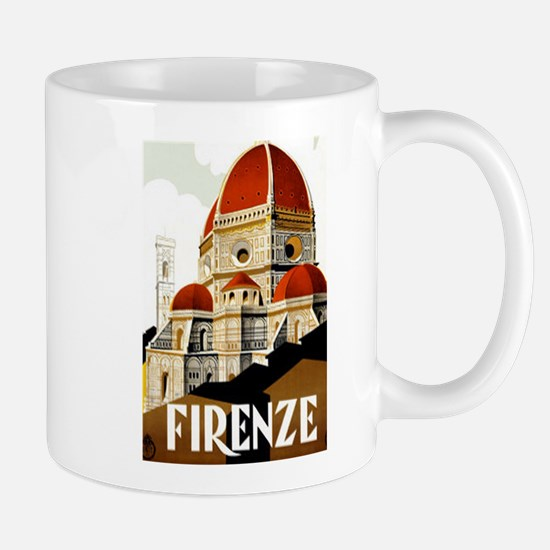 Vintage Firenze Italy Tourism Poster Mugs
