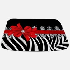 Zebra (red) Bathmat
