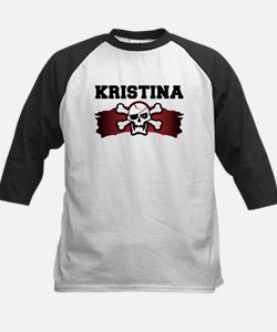 kristina is a pirate Kids Baseball Jersey