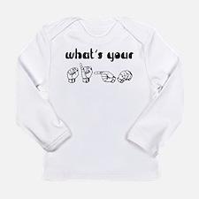 Cute Asl Long Sleeve Infant T-Shirt