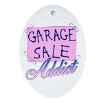 Garage Sale Addict Oval Ornament