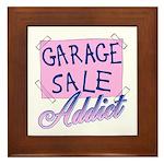 Garage Sale Addict Framed Tile