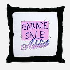 Garage Sale Addict Throw Pillow