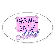 Garage Sale Addict Oval Decal