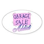 Garage Sale Addict Oval Sticker
