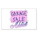 Garage Sale Addict Rectangle Sticker