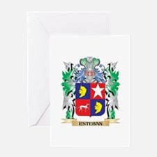 Esteban Coat of Arms (Family Crest) Greeting Cards