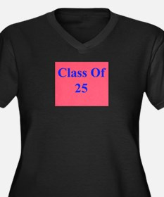 class of 2025 Women's Plus Size V-Neck Dark T-Shir