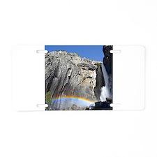 Yosemite Falls rainbow, fro Aluminum License Plate