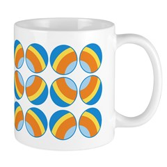 Mod Print Polka Dot Ceramic Coffee Mug