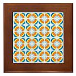 Mod Print Polka Dot Framed Tile