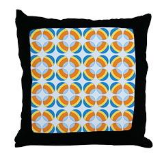 Mod Print Polka Dot Throw Pillow
