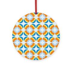 Mod Print Polka Dot Ornament (Round)