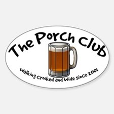 Porch Club Oval Decal
