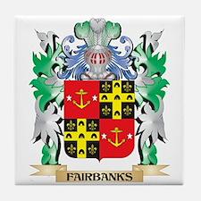 Fairbanks Coat of Arms (Family Crest) Tile Coaster