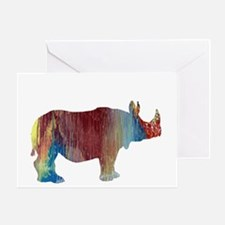Funny Rhino Greeting Card