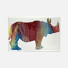 Cute Rhinoceros Rectangle Magnet