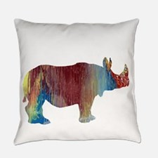 Rhinoceros Everyday Pillow