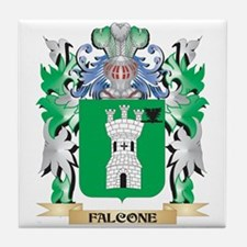 Falcone Coat of Arms (Family Crest) Tile Coaster