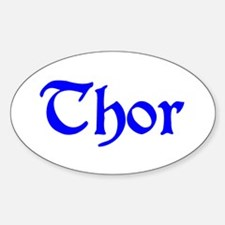 Thor Three Store Oval Decal