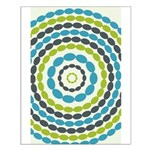 Beaded Circles Retro Mod Small Poster