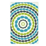Beaded Circles Retro Mod Postcards (Package of 8)