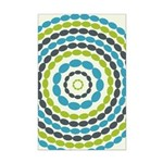 Beaded Circles Retro Mod Mini Poster Print