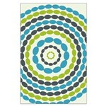 Beaded Circles Retro Mod Large Poster