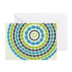 Beaded Circles Retro Mod Greeting Cards (Pk of 20)