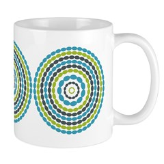Beaded Circles Retro Mod Ceramic Coffee Mug