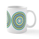 Beaded Circles Retro Mod Ceramic Coffee Mug