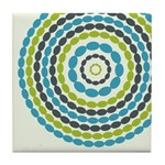 Beaded Circles Retro Mod Tile Drink Coaster