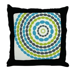 Beaded Circles Retro Mod Throw Pillow