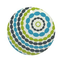 Beaded Circles Retro Mod Ornament (Round)