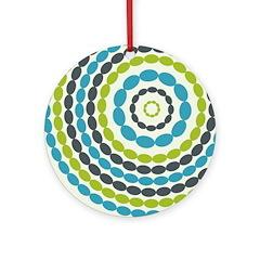 Beaded Circles Retro Mod Ornament (Round)