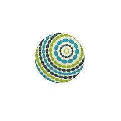 Beaded Circles Retro Mod Mini Button