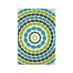Beaded Circles Retro Mod Rectangle Magnet (10 pack