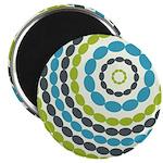 "Beaded Circles Retro Mod 2.25"" Magnet (10 pack)"