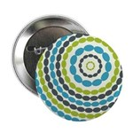 "Beaded Circles Retro Mod 2.25"" Button (100 pack)"