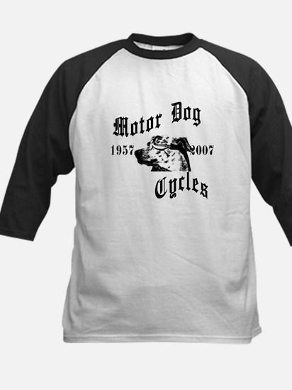 Motor Dog Cycles Kids Baseball Jersey