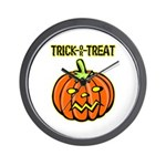 Trick or Treat Halloween Pumpkin Wall Clock