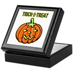 Trick or Treat Halloween Pumpkin Keepsake Box