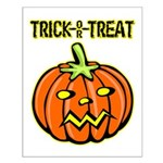Trick or Treat Halloween Pumpkin Small Poster
