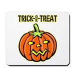 Trick or Treat Halloween Pumpkin Mousepad