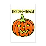 Trick or Treat Halloween Pumpkin Mini Poster Print